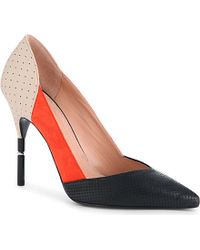 Roland Mouret Romy Perforated Court Shoes - Lyst