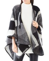 BCBGMAXAZRIA Color-blocked Cape - Black