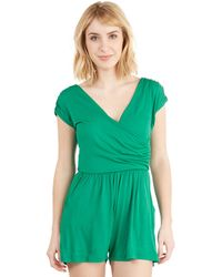 Gilli - Hopscotch Into Style Romper In Green - Lyst