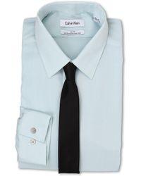 Calvin Klein Slim Fit Non Iron Herringbone Solid - Lyst
