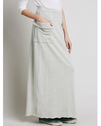 Free People Travel Skirt gray - Lyst