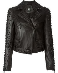 2nd Day Studded Biker Jacket - Lyst