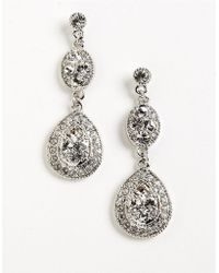 Givenchy Pave Crystal Drop Earrings - Lyst