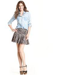 Jessica Simpson Leighton Printed Drop Waist Skirt - Lyst