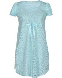 Odd Molly Short Dress blue - Lyst
