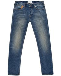 Paul Smith Men's Straight-fit Antique-wash Red Ear Jeans - Blue