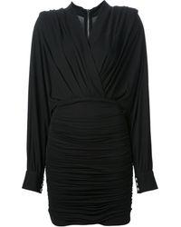 Balmain Draped Dress - Lyst