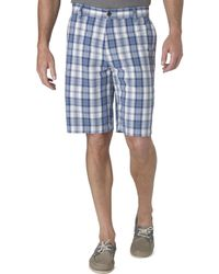 Dockers Flat Front Plaid Shorts - Lyst