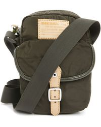 Diesel C Cross Small Khaki Shoulder Bag With Natural Leather Detail khaki - Lyst