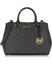 Michael Kors | Sutton Medium Saffiano Leather Satchel Bag | Lyst
