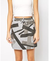 Cheap Monday Mini Skirt With Tape Detail - Grey