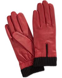 Charter Club - Leather Gloves With Knit Cuff Gloves - Lyst