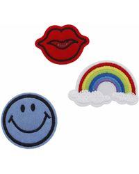TOPSHOP Rainbow Badge Pack - Multicolor