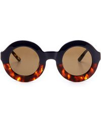 Wildfox Twiggy Factory Sunglasses - Navy/Tort - Lyst