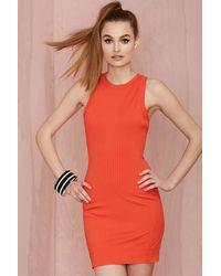 Nasty Gal Brickell Ribbed Dress - Lyst