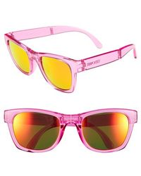 Sunpocket - 'tobago' 60mm Foldable Sunglasses - Crystal Pink - Lyst