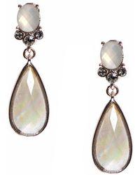 Anne Klein - Crystal Teardrop Earrings - Lyst