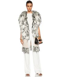 By Malene Birger Ronias Fringe Cotton-Blend Vest - Lyst