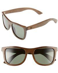 Woodzee - 'milano' 52mm Polarized Sunglasses - Bamboo Brown/ Green - Lyst