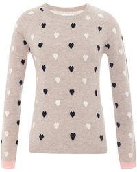 Chinti & Parker Heart-Intarsia Cashmere Sweater - Lyst