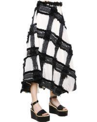 Sportmax Asymmetrical Fringed Jacquard Skirt - Lyst