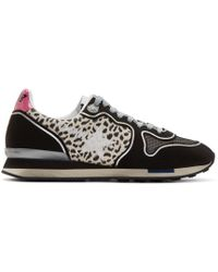 Golden Goose Deluxe Brand Black Paneled Running Sneakers - Lyst