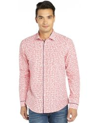 Stone Rose Red Cotton Woven Gingham and Floral Button Front Shirt - Lyst