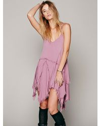 Free People Tattered Up Shred Slip - Lyst