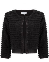 Almost Famous - Textured Cardigan - Lyst