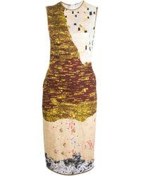 Givenchy Abstract Print Midi Dress - Lyst