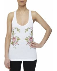 McQ by Alexander McQueen Embroidered Floral Vest Top - Lyst