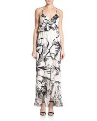 Parker Halle Printed Silk Dress - Lyst