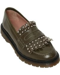 RED Valentino 20mm Studded Fringed Leather Loafers - Natural