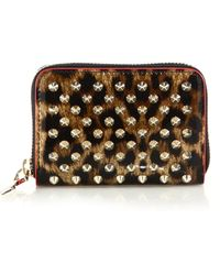 Christian Louboutin | Panettone Spiked Leopard-print Coin Purse | Lyst