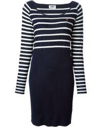 Sonia By Sonia Rykiel Striped Knitted Dress - Lyst