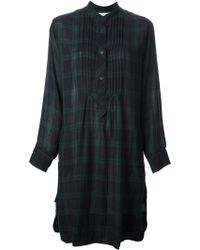 Etoile Isabel Marant Tartan Shirt Dress - Lyst