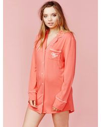 Wildfox | Let's Spend The Night Together Sweet Dreams Sleepshirt In Vintage Valentine | Lyst