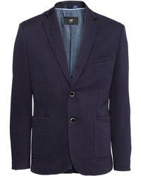 H&M Blue Jersey Jacket - Lyst