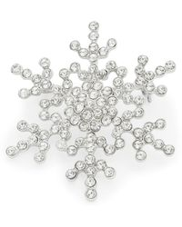 R.j. Graziano - Pave Snowflake Pin - Lyst