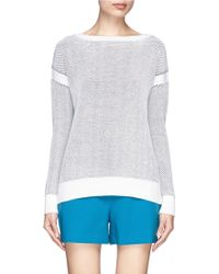 Vince Waffle Jacquard Knit Sweater - Lyst