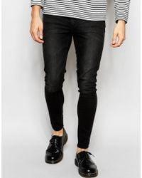 Cheap Monday Jeans Mid Spray Extreme Skinny Fit Worn Grey - Black