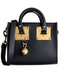 Sophie Hulme Small Leather Bag gold - Lyst