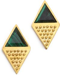 A Peace Treaty - Korla Malachite Earrings - Lyst