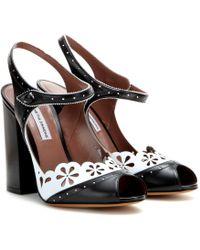 Tabitha Simmons Kitty Leather Peep-Toe Pumps black - Lyst