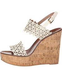 Tory Burch Daisy Perforated 125mm Wedge - Lyst