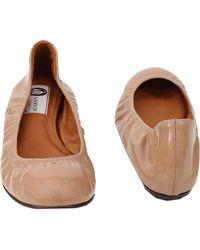 Lanvin Patent Ballet Flat - Lyst