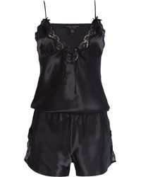 Lipsy | Silky Lace Playsuit | Lyst