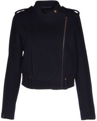 Theory Blue Jacket - Lyst