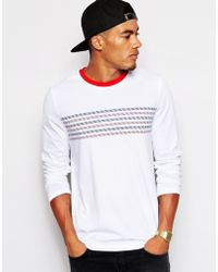 Asos 34 Sleeve Tshirt with Chest Stripe - Lyst