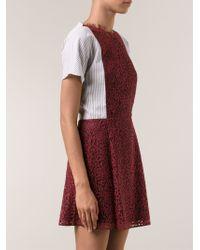 Carven Lace Shirt Dress - Lyst
